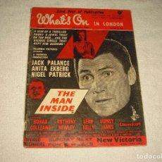Cine: WHAT'S ON . REVISTA INGLESA DE CINE 1958 .. Lote 102421243