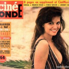 Cine: CINÉ MONDE 30 ABRIL 1963 - CLAUDIA CARDINALE. Lote 102482351