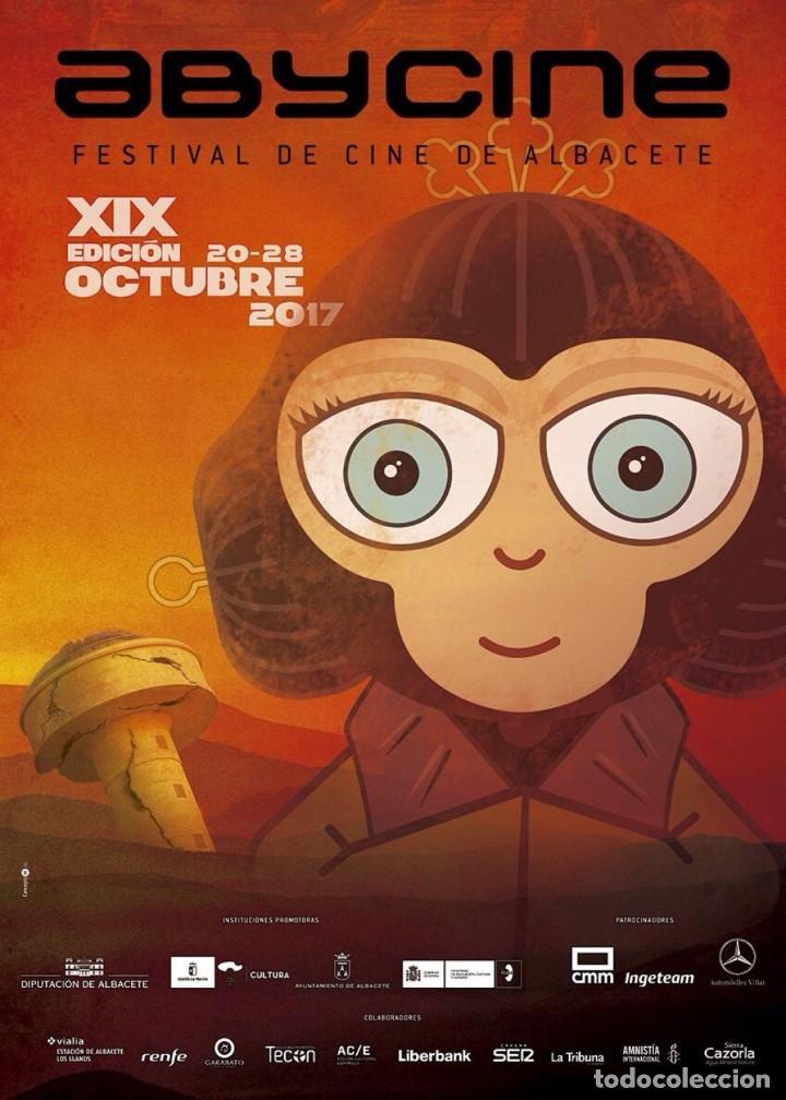 CARTEL DE FESTIVAL DE ABYCINE 2017 DE ALBACETE NUEVO MUY DIFÍCIL DE ENCONTRAR (Cine - Reproducciones de carteles, folletos...)