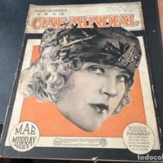 Cine: CINE MUNDIAL NOVIEMBRE AÑO 1920. MAE MURRAY, PAULINE FREDERICK, ALLA NAZIMOVA (C6). Lote 103290191