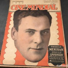 Cine: CINE MUNDIAL SEPTIEMBRE AÑO 1920 THOMAS MEIGHAN, MARY PICKFORD, WILLAIM FARNUM, SESSUE HAYAKAWA (C6). Lote 103290451