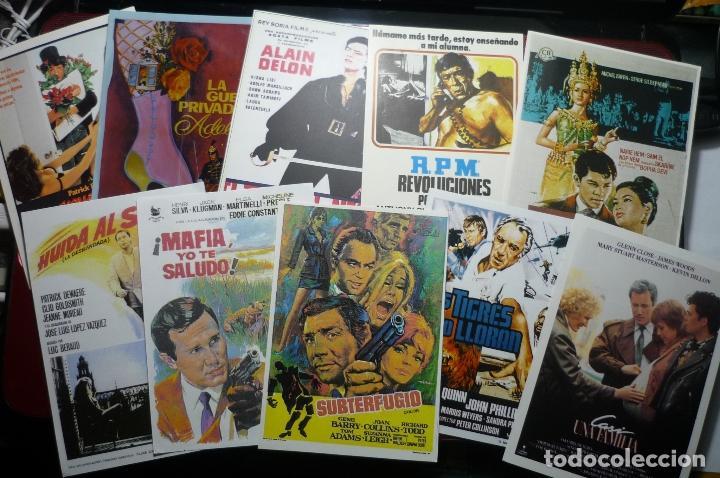 LOTE REPRODUCCIONES EN PAPEL, FOTO, IMPRENTA PELICULAS MUNDIALES (Cine - Reproducciones de carteles, folletos...)