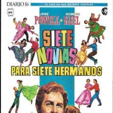 Cine: CARTEL 30 X 20 CM EL CINE EN SUS MEJORES CARTELES. DIARIO 16. Lote 103749635