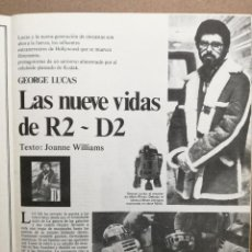 Cinema: ENTREVISTA GEORGE LUCAS,STAR WARS,LAS NUEVE VIDAS DE R2-D2. Lote 103974887