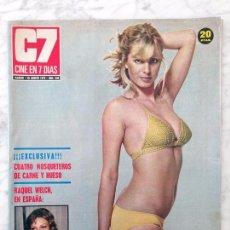 Cine: REVISTA C7 CINE EN 7 DÍAS - Nº 646 - 1973 - STEPHANIE MCSEAN, HELGA LINÉ, RAQUEL WELCH, GENE TIERNEY. Lote 104018327