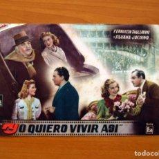 Cine: YO QUIERO VIVIR ASI, Nº 31- FERRUCCIO TAGLIAVINI, SILVANA JACHINO - CINEVIDA - ED. HISPANO AMERICANA. Lote 104268667