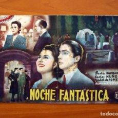 Cine: NOCHE FANTÁSTICA, Nº 33 - PAOLA BARBARA, CARLOS MUÑOZ - CINEVIDA - ED. HISPANO AMERICANA. Lote 104269391