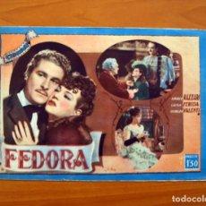 Cine: FEDORA, Nº 8 - AMADEO NAZZARI, LUISA FERIDA, OSVALDO VALENTI - CINEVIDA - ED. HISPANO AMERICANA . Lote 104269879