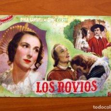 Cine: LOS NOVIOS, Nº 16 - DINA SASSOLI, GINO CERVI, CARLOS NINCHI - CINEVIDA - ED. HISPANO AMERICANA . Lote 104270583