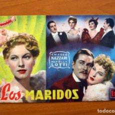 Cine: LOS MARIDOS, Nº 19 - AMADEO NAZZARI, MARIELLA LOTTI - CINEVIDA - EDITORIAL HISPANO AMERICANA . Lote 104273351