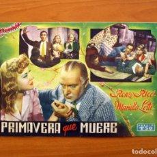 Cine: PRIMAVERA QUE MUERE, Nº 21 - RENZO RICCI, MARIELLA LOTTI - CINEVIDA - EDITORIAL HISPANO AMERICANA . Lote 104274303