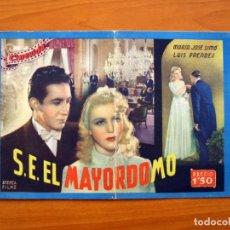 Cine: SU EXCELENCIA EL MAYORDOMO, Nº 7 -M ª JOSÉ SIMÓ, LUIS PRENDES- CINEVIDA-EDITORIAL HISPANO AMERICANA . Lote 104278087