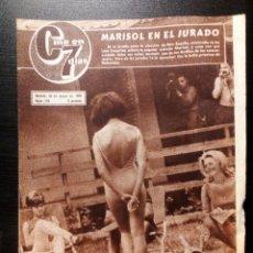 Cine: CINE EN 7 DÍAS Nº 216 1965 MARISOL,ANONIO GADES CANNES VIRNA LISI ANA CASTOR . Lote 104283779