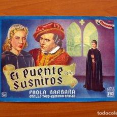 Cine: EL PUENTE DE LOS SUSPIROS, Nº 3 - PAOLA BARBARA, OTELLO TOSO -CINEVIDA -EDITORIAL HISPANO AMERICANA . Lote 104287467