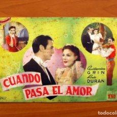 Cine: CUANDO PASA EL AMOR, Nº 18 - GUILLERMINA GRIN, LUIS DURAN - CINEVIDA - EDITORIAL HISPANO AMERICANA . Lote 104287619