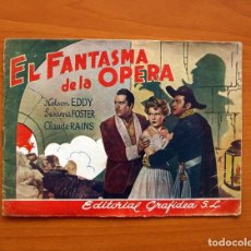 Cine: EL FANTASMA DE LA OPERA - CUADERNOS CINEMATOGRÁFICOS Nº 3 - EDITORIAL GRAFIDEA 1945. Lote 104288147
