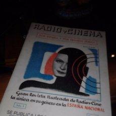 Cine: RADIO Y CINEMA. NÚMERO 1. AÑO 1938.. Lote 104324743