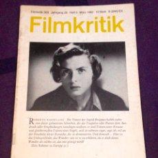 Cine: FILMKRITIK #303. MÄRZ 1982. EDICIÓN ALEMANA REVISTA CRÍTICA DE CINE. Lote 104332374