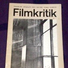 Cine: FILMKRITIK #304. APRIL 1982. EDICIÓN ALEMANA REVISTA DE CRÍTICA DE CINE. HIROSIMA MON AMOUR. Lote 104332388