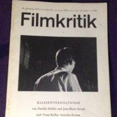 Cine: FILMKRITIK #333/334. SEP/OCT 1984. REVISTA CRÍTICA DE CINE EDICIÓN ALEMANA. Lote 104332462