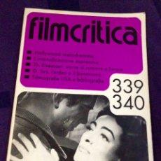Cine: FILMCRITICA #339/340. AÑO 1984 REVISTA CRÍTICA DE CINE EDICIÓN ITALIANA. Lote 104332482