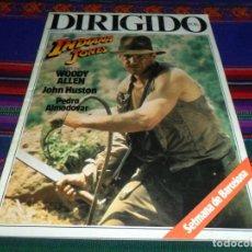 Cine: DIRIGIDO POR Nº 117. INDIANA JONES Y EL TEMPLO MALDITO, WOODY ALLEN, JOHN HUSTON, PEDRO ALMODÓVAR.. Lote 104616907