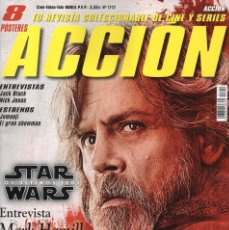 Cine: ACCION N. 1712 DICIEMBRE 2017 - EN PORTADA: STAR WARS LOS ULTIMOS JEDI (NUEVA). Lote 140476242
