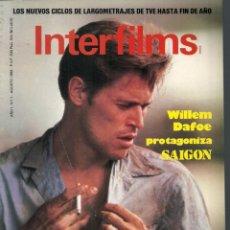 Cine: REVISTA INTERFILMS - Nº 1 - AGOSTO 1988. Lote 105271967