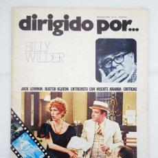 Cine: REVISTA DE CINE DIRIGIDO POR 21. BILLY WILDER / JACK LEMMON / BUSTER KEATON / VICENTE ARANDA, 1975. Lote 156897210