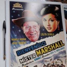 Cinema: POSTER 26 X 36 CMS BIENVENIDO MR MARSHALL PEPE ISBERT JOSE LOLITA SEVILLA. Lote 105949455