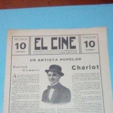 Cine: REVISTA EL CINE 1916 Nº 214 AÑO V CHARLOT CARLOS CHAPLIN REVISTA POPULAR ILUSTRADA 10 CTS. 20 PGS.. Lote 106011655