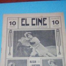Cine: REVISTA EL CINE 1916 8 ABRIL Nº 221 AÑO V ALEXIA VENTURA REVISTA POPULAR ILUSTRADA 10 CTS. 20 PGS. Lote 106012475