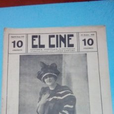 Cine: REVISTA EL CINE 1915 18 DICBRE. Nº 205 AÑO IV LINA CAVALIERI REVISTA POPULAR ILUSTRADA 10 CTS 20 PGS. Lote 106018727