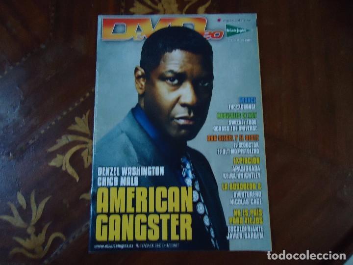 REVISTA. MENSUAL DE CINE DVD. SUMARIO 80 JUNIO 2008 DENZEL WASHINGTON 56 PÁGINAS. TODAS LAS NOVEDADE (Cine - Revistas - Cinerama)