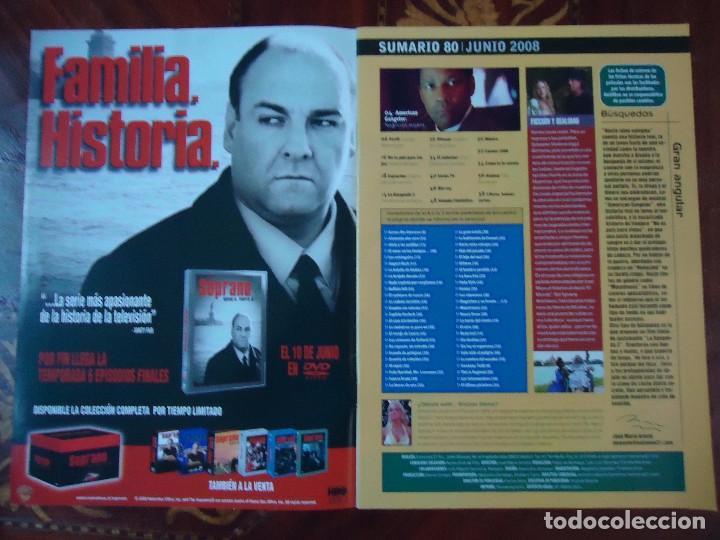 Cine: REVISTA. MENSUAL DE CINE DVD. SUMARIO 80 JUNIO 2008 DENZEL WASHINGTON 56 PÁGINAS. TODAS LAS NOVEDADE - Foto 2 - 106030071