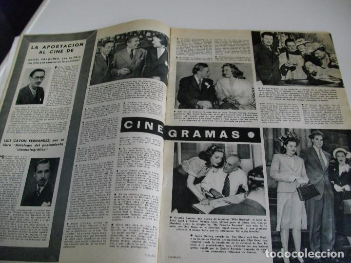 Cine: CAMARA REVISTA DE CINE AÑO 1947 Nº 104 EN PORTADA LILLI PALMER VER TODAS MIS REVISTAS - Foto 6 - 106618063