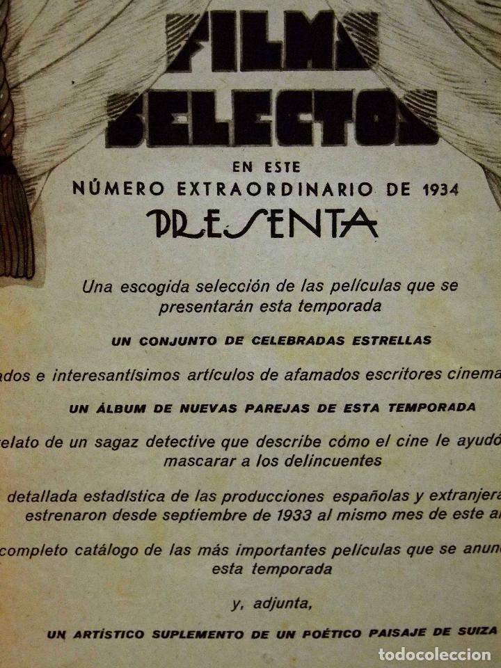 Cine: REVISTA DE CINE, FILMS SELECTOS, NUMERO EXTRAORDINARIO, OCTUBRE DE 1934, DOLORES DEL RIO - Foto 4 - 106732047