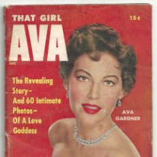 Cine: YD03 AVA GARDNER REVISTA AMERICANA MONOGRAFICO THAT GIRL AVA 1955. Lote 106943339