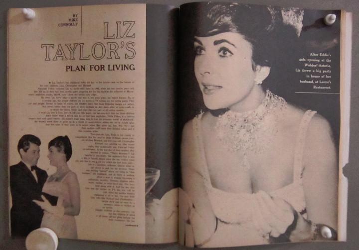 Cine: YD01 ELIZABETH TAYLOR COLECCION DE 8 REVISTAS AMERICANAS SCREEN STORIES 50s - 60s - Foto 3 - 106939263