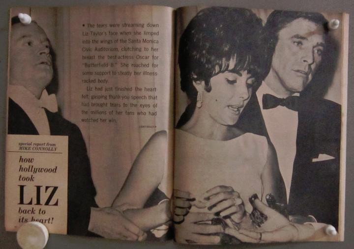 Cine: YD01 ELIZABETH TAYLOR COLECCION DE 8 REVISTAS AMERICANAS SCREEN STORIES 50s - 60s - Foto 5 - 106939263