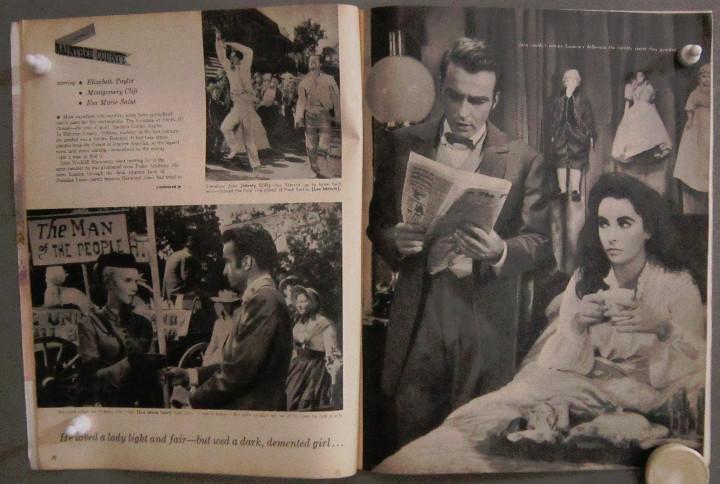 Cine: YD01 ELIZABETH TAYLOR COLECCION DE 8 REVISTAS AMERICANAS SCREEN STORIES 50s - 60s - Foto 6 - 106939263