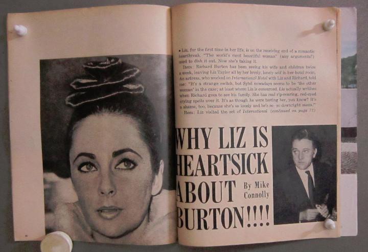 Cine: YD01 ELIZABETH TAYLOR COLECCION DE 8 REVISTAS AMERICANAS SCREEN STORIES 50s - 60s - Foto 7 - 106939263