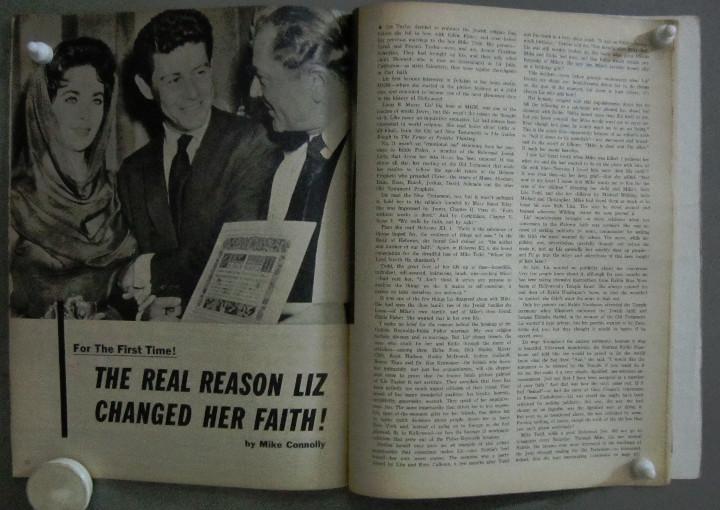 Cine: YD01 ELIZABETH TAYLOR COLECCION DE 8 REVISTAS AMERICANAS SCREEN STORIES 50s - 60s - Foto 8 - 106939263