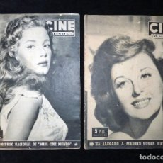 Cine: LOTE DE 2 REVISTAS CINE MUNDO,1952-53 . Lote 107195915