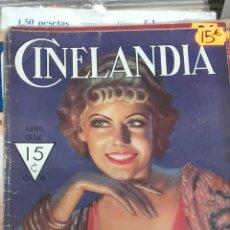 Cine: CINELANDIA. ABRIL 1934. Lote 107364084