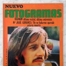Cine: FOTOGRAMAS - Nº 1119 - 1970 - RINGO STARR, AURORA BAUTISTA, MARÍA JOSÉ GOYANES, RAIMON, CANARIOS. Lote 107463755