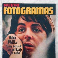 Cine: FOTOGRAMAS - Nº 1124 - 1970 - ESPECIAL BEATLES + POSTER, PAUL MCCARTNEY, GIORGIO MORODER, METELLO. Lote 107464123