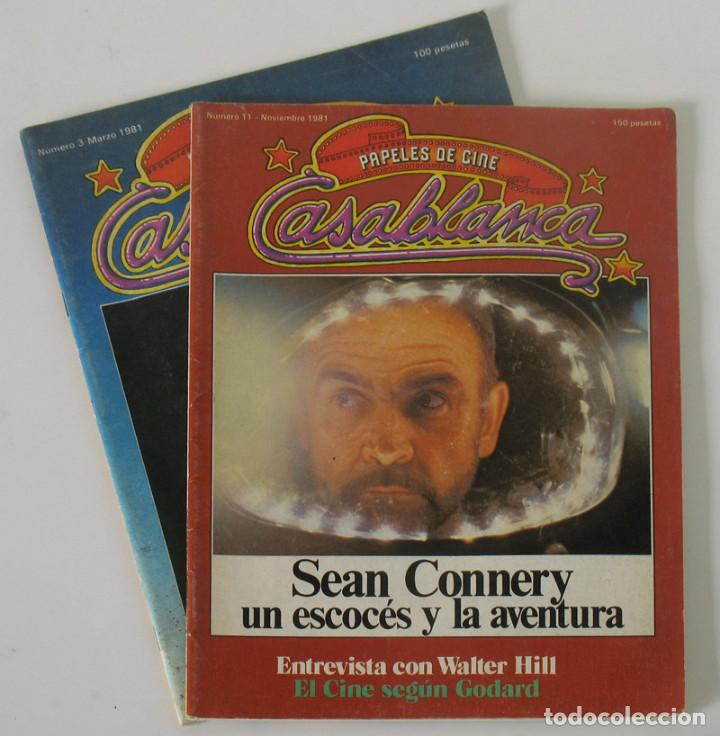 REVISTAS DE CINE CASABLANCA DE 1981 (Cine - Revistas - Papeles de cine)