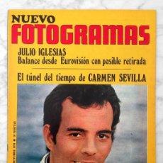 Cine: FOTOGRAMAS - Nº 1147 - 1970 - JULIO IGLESIAS, SITGES, CHARO LÓPEZ, CARMEN SEVILLA, HELMUT BERGER. Lote 107595219
