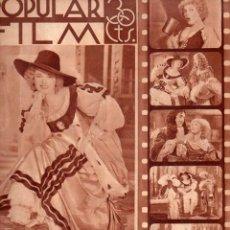 Cine: POPULAR FILM Nº 437 - 3 ENERO 1935. Lote 107738287